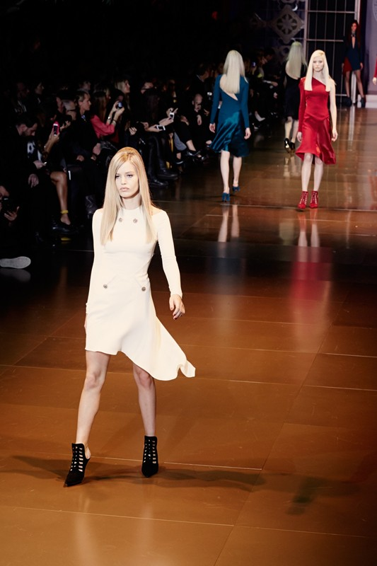 Versace FW 2014 white dress