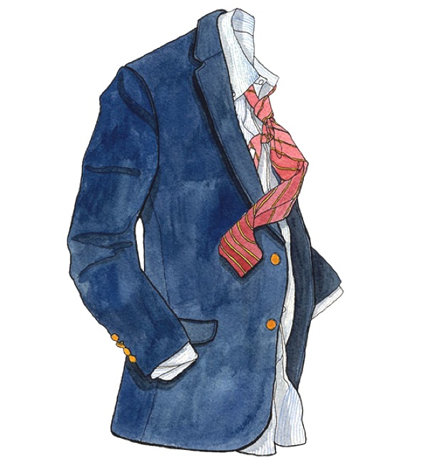blazer for men illustration