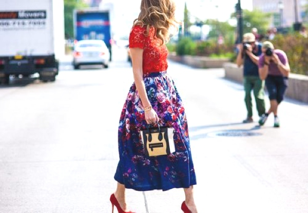lace and floral street style
