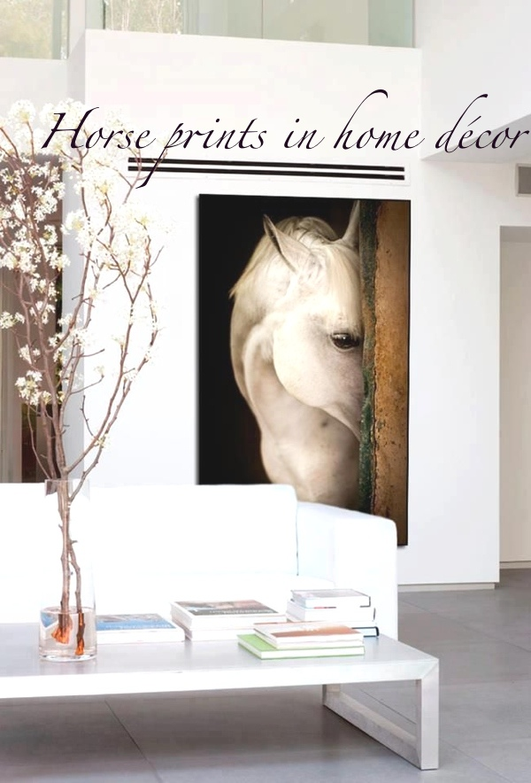 Horse prints in home décor