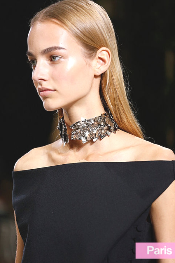 balenciaga ss 2014 chocker leaves