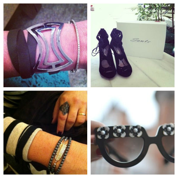 Accessorize bracelets and shoes