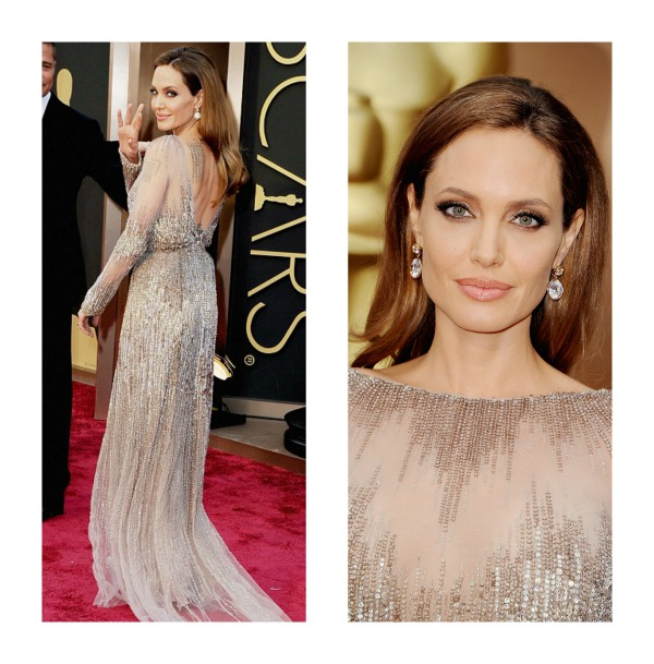Angelina Jolie Oscars 2014 Ellie Saab dress