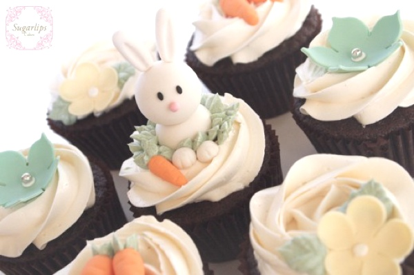 Easter inspired Cupcakes in chocolate