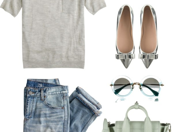 Icelle Styling Ideas Collage silver pointed shoes