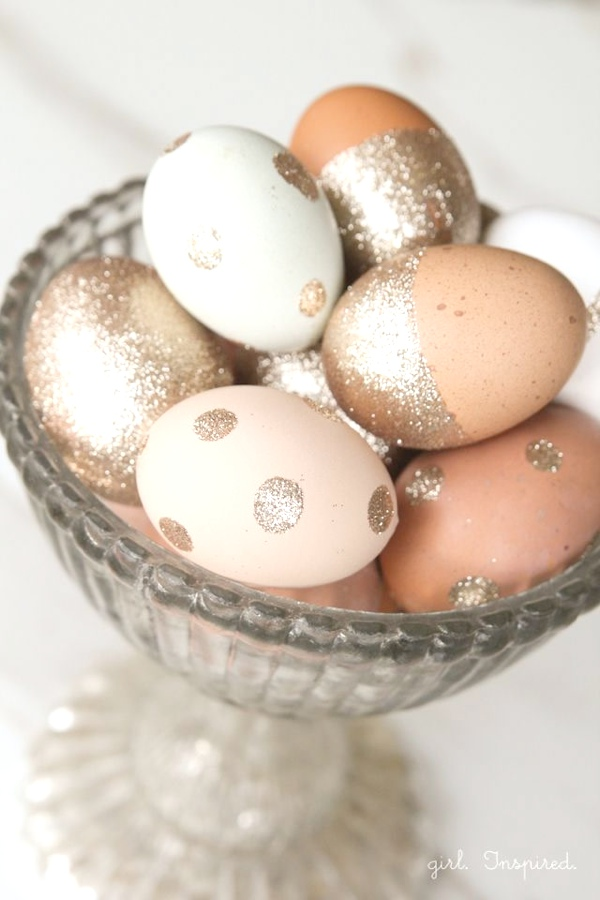 Inspiring ideas Easter Eggs Decoration gold glitter