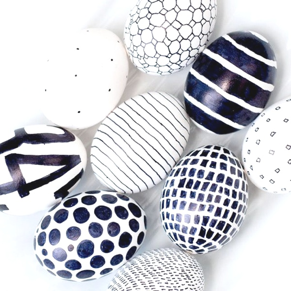 Inspiring ideas Easter Eggs Decoration black and white