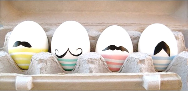 Inspiring ideas Easter Eggs Decoration stripes and mustache