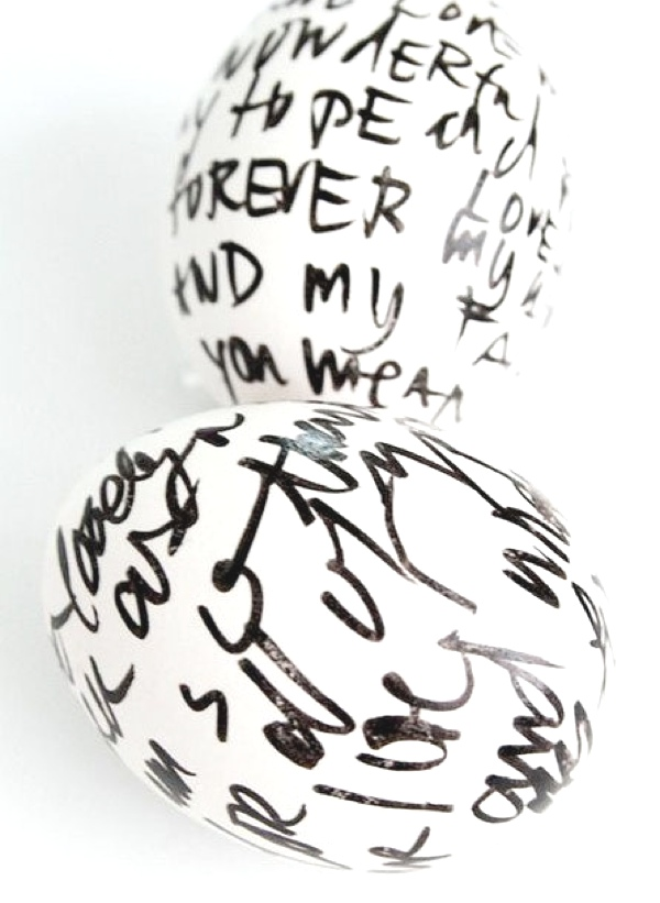 Inspiring ideas Easter Eggs Decoration write on eggs