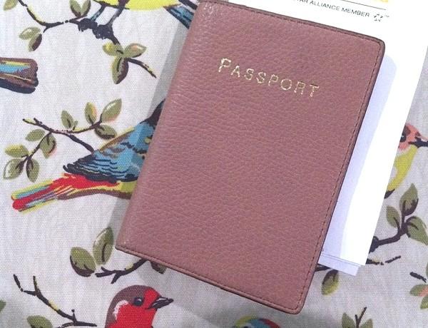 Passport J crew leather