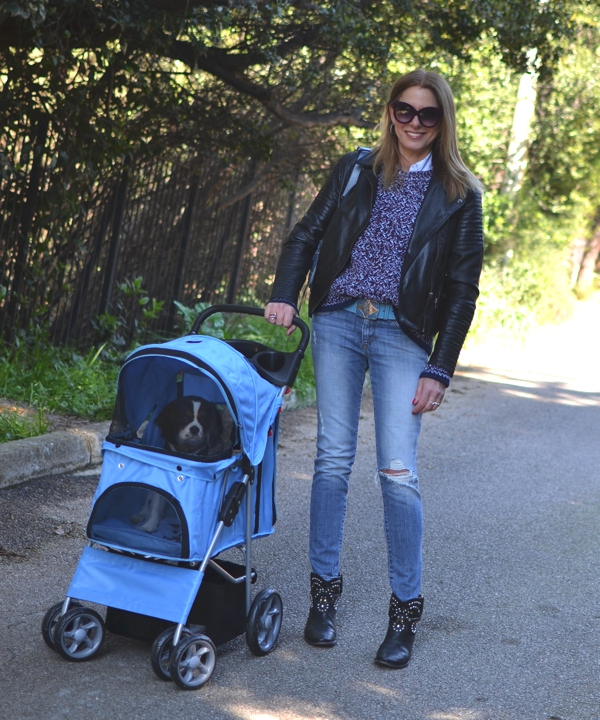 Street Style, Pet stroller casual outfit03