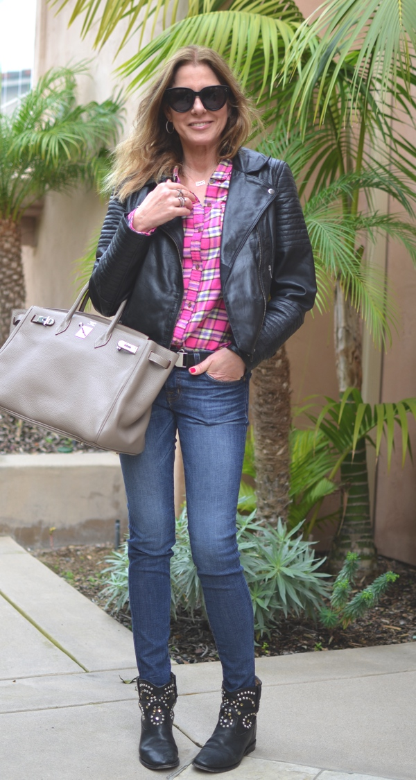 Tendsurvivor Street Style Plaid, Jeans Boots Ranch Style03
