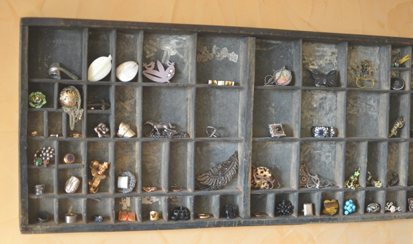 Vintage Typesetter Tray for Jewelry