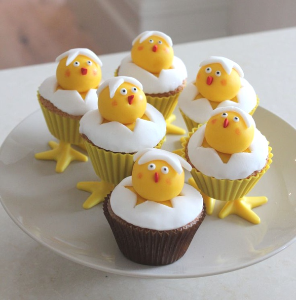 easter cupcakes chick