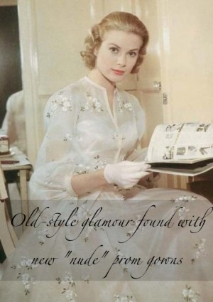 high society film 1956 grace kelly wedding dress vintage 50s nude tea