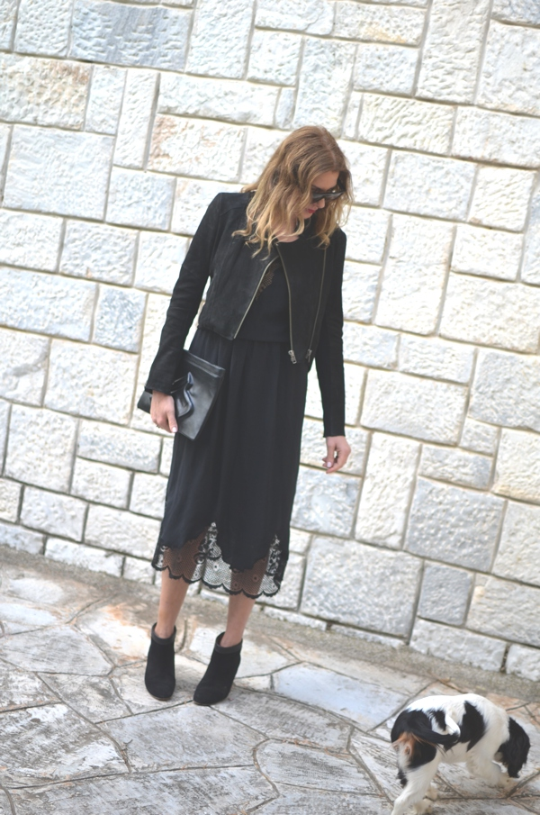 lace dress boots isabel marant street style