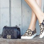 leopard sneaker and chanel boy bag