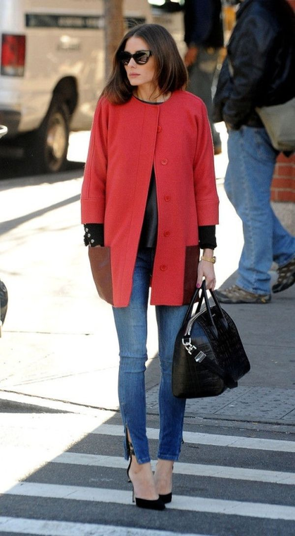 oversized-coats and high heels Olivia Palermo