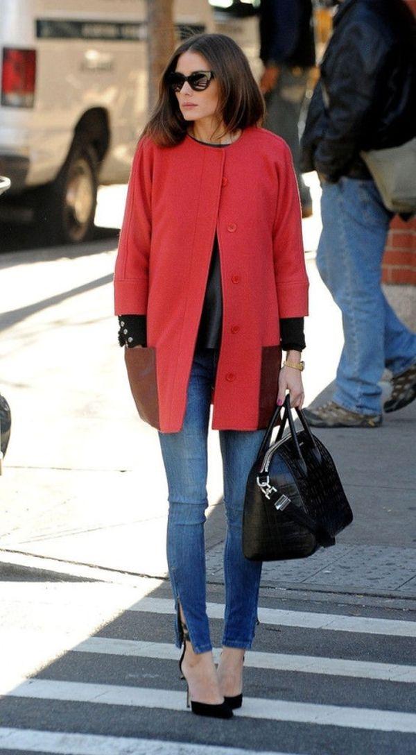 oversized-coats and high heels Olivia Palermo