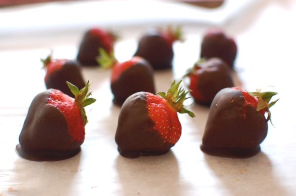 strawberries chocolate