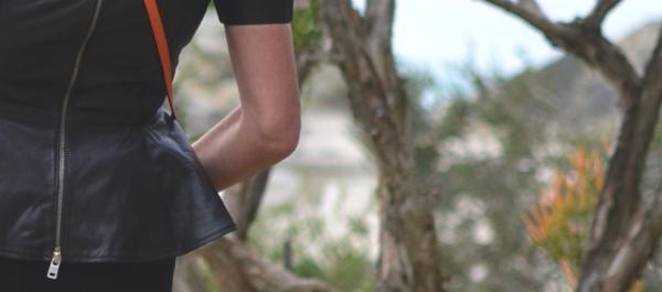 Alexander McQueen peplum top zipper