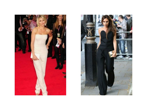 Cameron Diaz and Victoria Beckham Jumpsuits evening