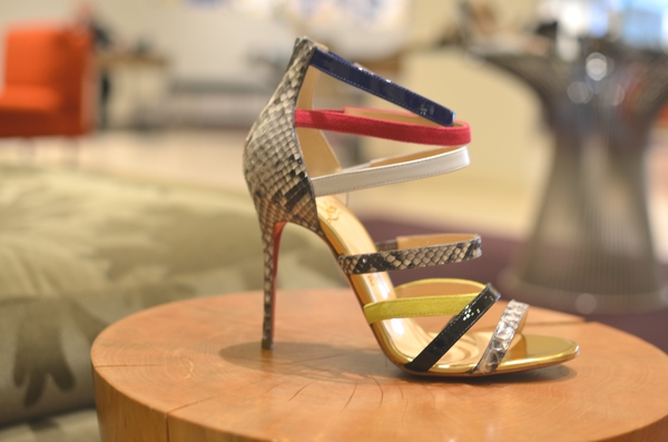 Christian Louboutin sandal colored straps