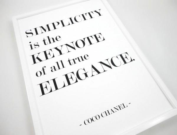 Coco Chanel simplicity
