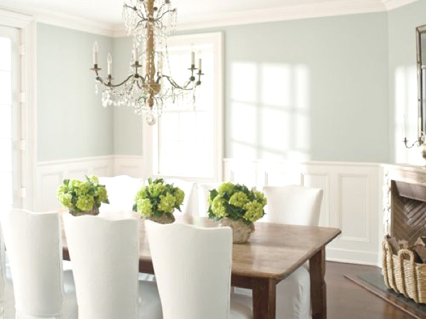 total white interiors dinning room