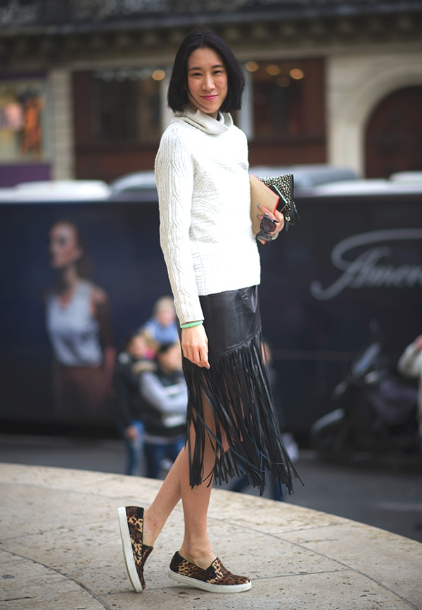 Eva Chen Fringes skirt