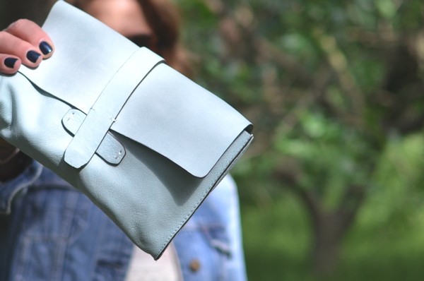 Gap suede clutch