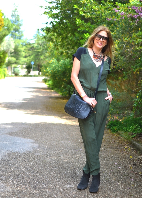 Green casual Jumpsuit Street style Gypsy05