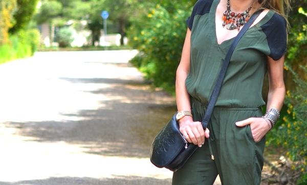 Green Jumpsuit Street style TrendSurvivor05