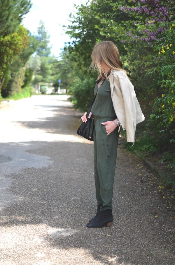Green Jumpsuit Street style TrendSurvivor07