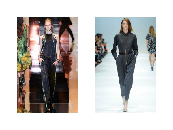 Gucci and Guy Laroche jumpsuits summer 2014