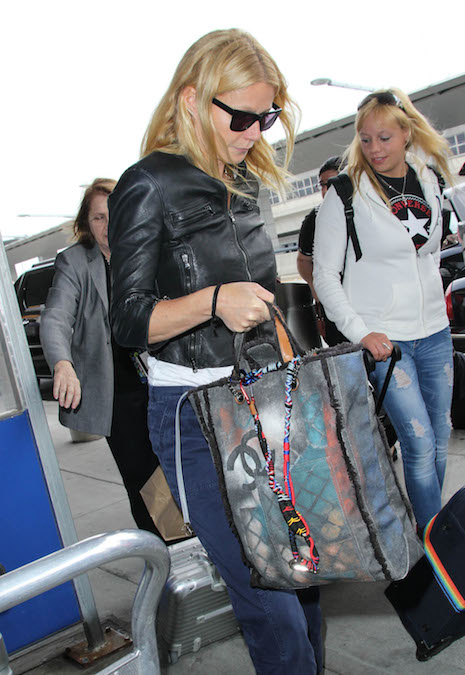 Gwyneth Paltrow Chanel graffiti tote