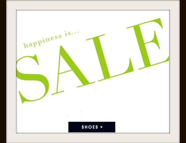 Happiness is Sale  Shoes