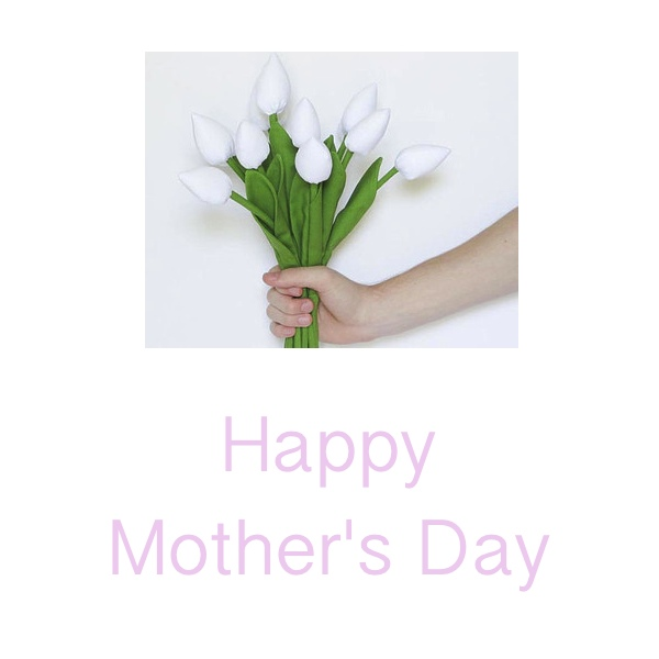 Happy Mother's day white tylipd card
