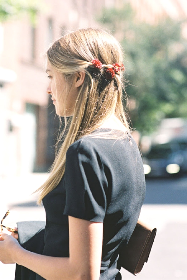 Inspiring Long Hair Summer Hairstyles flowers street style
