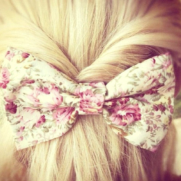 Inspiring Long Hair Summer Hairstyles06, bow hair clip