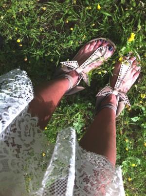 Isabel Marant beige edris sandals