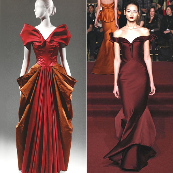 James ball gown Zac_Posen red evening gowns