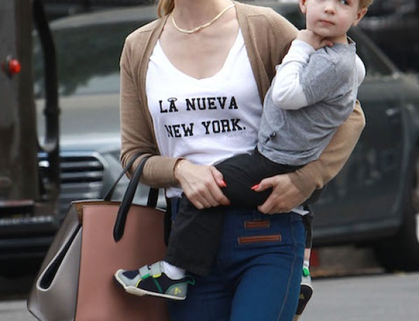 Exclusive… January Jones Takes Xander To Little Dom's