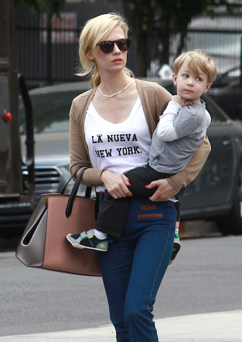 January Jones Smythson bag