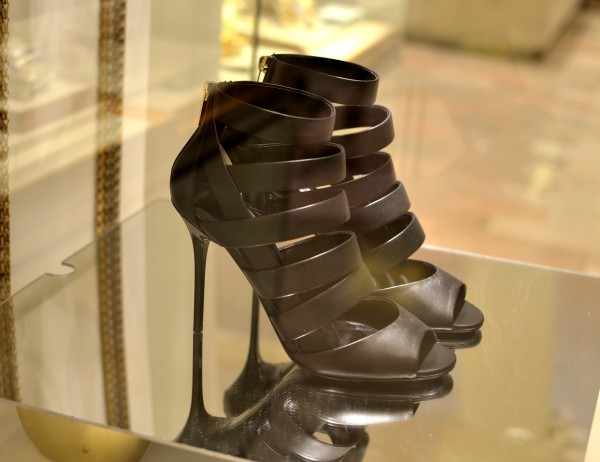 Duran Strappy Caged Bootie, Black Jimmy Choo