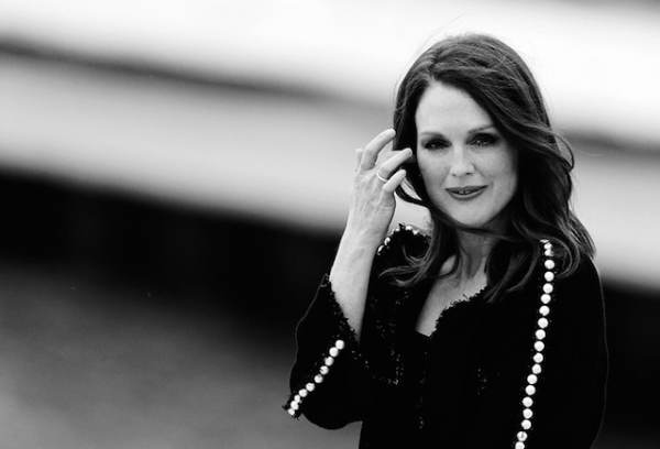 Julianne Moore by Loic Venance-The Most Beautiful Black and White Cannes Festival Photographs