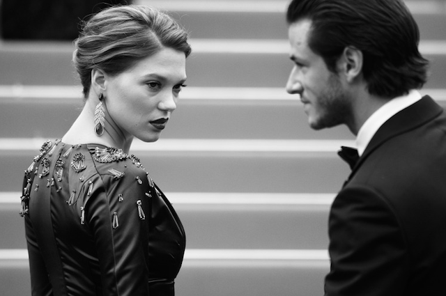 Léa Seydoux and Gaspard Ulliel by Alberto Pizzoli : AFP