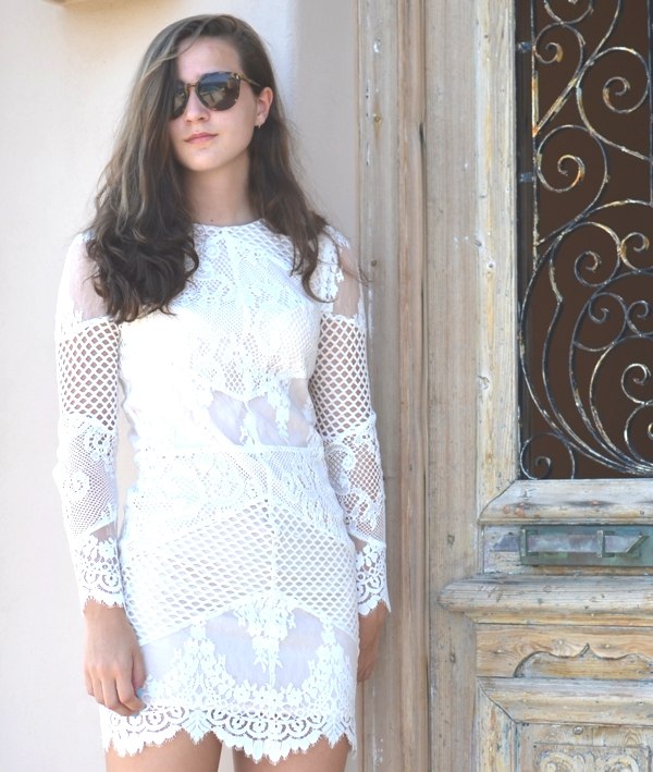 Lilly Andrews- White Sandro lace dress