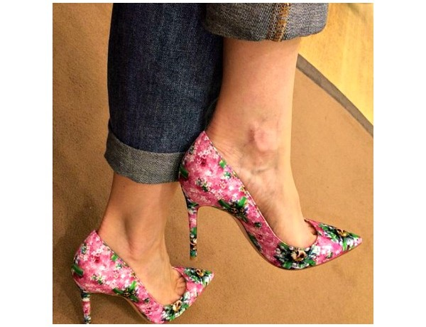 Mary Katrantzou floral shoes