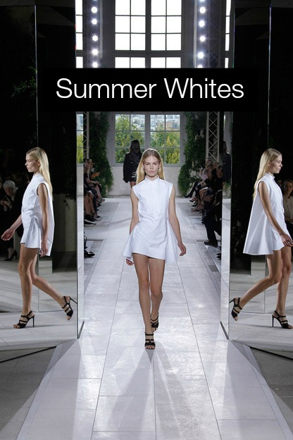 summer whites Balenciaga dress